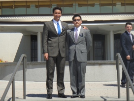 moi et mon collegue (me and my companion, Elder Tsai)