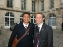 Elder Dayley and I during our Legality trip in Paris - After a month in France (Can you believe it?)