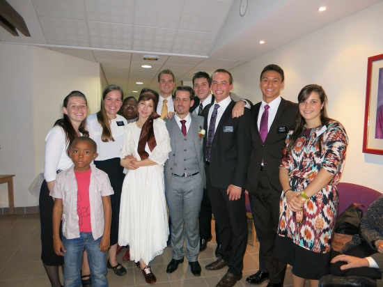 The Evry Missionaries with the DMP and his Wife (Dirigeant Mission de Paroisse) Ward Mission Leader