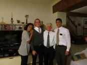 Elder Hall and I with the Cadin's - Frere Cadin is the 2nd Counsellor in the Mission Presidency and is also a part of my ward.  He also told me a lot about Scott Runyon, one of my roommates during Sophomore year at Stanford who served in this same place 4 years ago