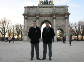 My Companion and I in front of an arch just across from the Louvre
