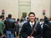 Yep.  Mona.  Lisa.  As you can probably see there is the persistent flock of people that made it difficult for me to have get up close