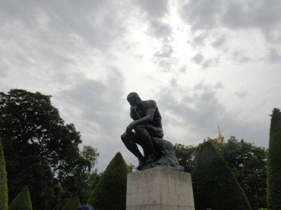 At Rodin's Museum. the Thinking Man