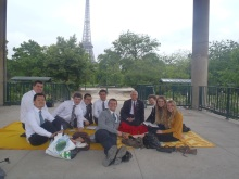 The day we had district meeting by the Eiffel Tower. It was raining that day, yet it was a perfect end to a great transfer.