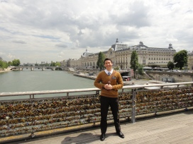 at Pont des Arts, the bridge with a thousand billion locks