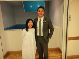 ZhuYing, an amie I taught whilst in Paris is finally got baptised
