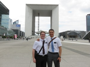 Elder Hall and I at La Defense