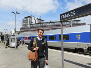 At the Rennes TGV station